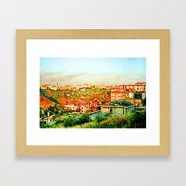 Catanzaro: view of the city Framed Art Print