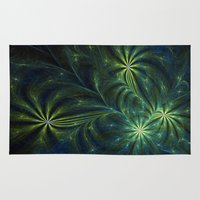 weed Area & Throw Rugs featuring Weed by Eli Vokounova