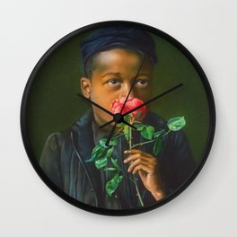 African American Masterpiece 'American Beauty' Portrait Painting Wall Clock