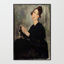 "Amedeo Modigliani ""Portrait of Dedie"" Canvas Print"