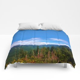 Northern Cascade Sky Comforters