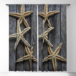 Starfishes in wooden Blackout Curtain