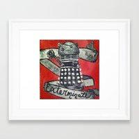dalek Framed Art Prints featuring Dalek by AntiPosi