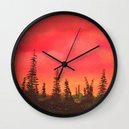 Over the Sunrise Wall Clock