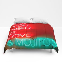 Love and mojitos Comforters