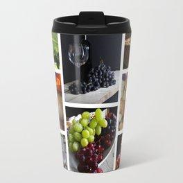 Home Bar Decor - Wine Vineyard Collage Travel Mug