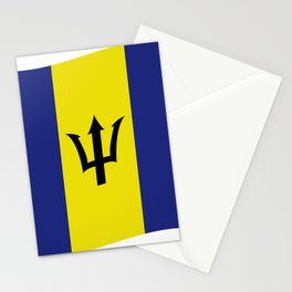 barbados flag Stationery Cards