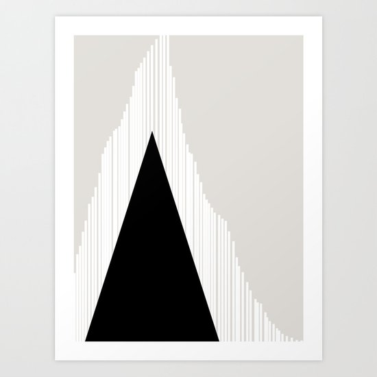 Abstract Mountain Art Print