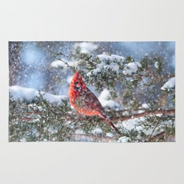 Let It Snow (Northern Cardinal) Rug