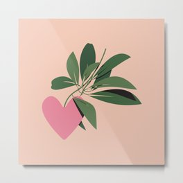 Give Yourself Time - Pink Metal Print