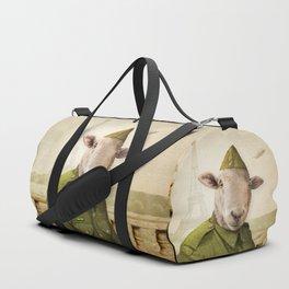 Private Leonard Lamb visits Paris Duffle Bag