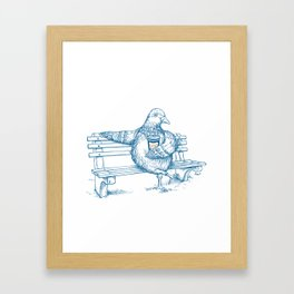 Cup O' Coffee NYC Style_pigeon Framed Art Print