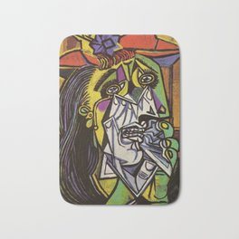 THE WEEPING WOMAN - PICASSO Bath Mat