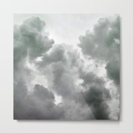 Green Clouds Metal Print
