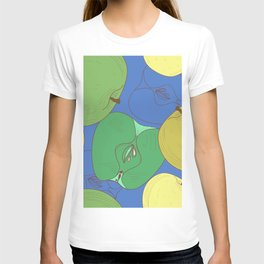 Seamless pattern with apples. Fruit T-shirt