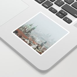 Cold Mornings over Prague Sticker