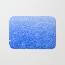 Light-to-Dark Blue Ombre Gradient Grass Bath Mat