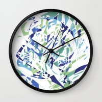 dolphins Wall Clocks featuring DOLPHINS by Alex Rocha