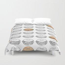 Bagel Sandwich Duvet Cover