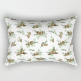 pine branches and cones pattern Rectangular Pillow