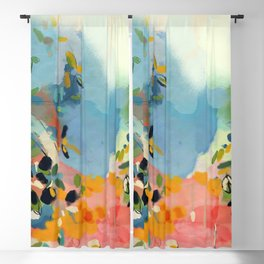 garden with sea view and olive tree Blackout Curtain