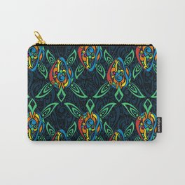Whimsical Tribal Turtles Pattern Carry-All Pouch