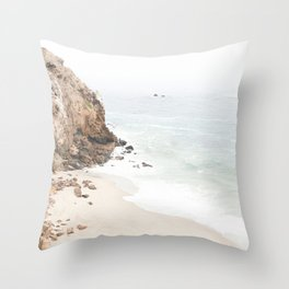 Malibu California Beach Throw Pillow