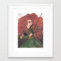 merida Framed Art Prints featuring Merida by carotoki