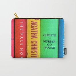 Rainbow Agatha Murder Books Carry-All Pouch