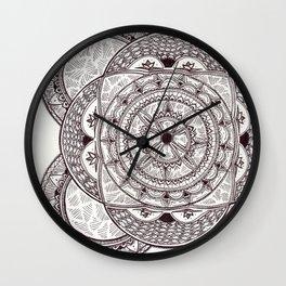 Flower Motif 2 Wall Clock