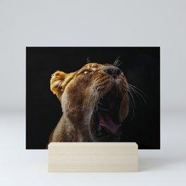 Fierce Lion Mini Art Print