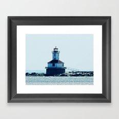 Summerside Harbour Lighthouse PEI Framed Art Print
