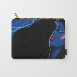 Electric 80s blue Carry-All Pouch