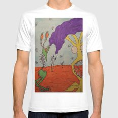 Tim and Missis Tree White Mens Fitted Tee MEDIUM