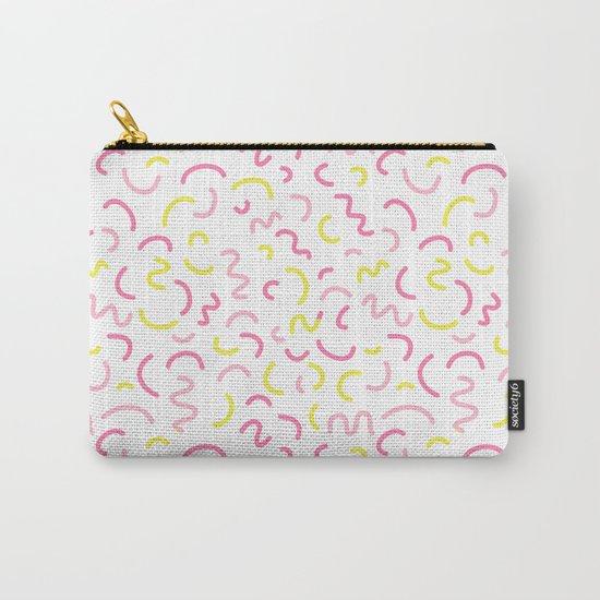 Cute pattern print design nursery decor bright sunny scandinavian Carry-All Pouch