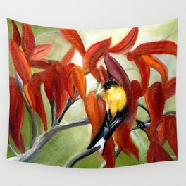 Sumac and Goldfinch Wall Tapestry
