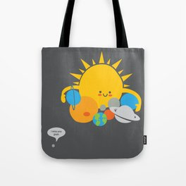 Hugs are for Planets Only Tote Bag