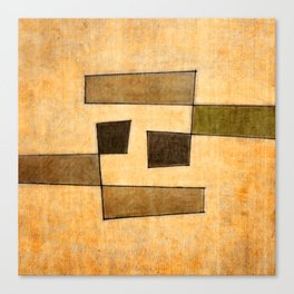 Protoglifo 03 'brown dance' Canvas Print