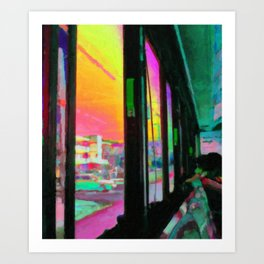 Acid bus trip Art Print