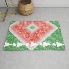 Christmas Watermelon Rug