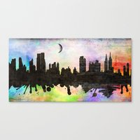 new york Canvas Prints featuring new York  new York  by mark ashkenazi