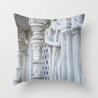 spiritual Throw Pillows featuring Spiritual by Gunjan Marwah