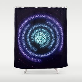 Energy Ring background Shower Curtain