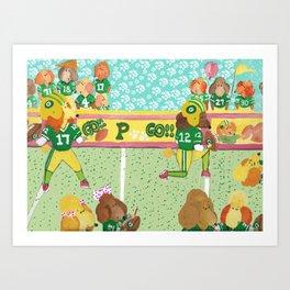 Go Poodles Go II Art Print