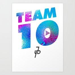 Jake Paul Waterdrop Team 10 JP Art Print