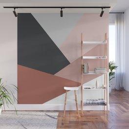 Elegant geometric design in brown Wall Mural