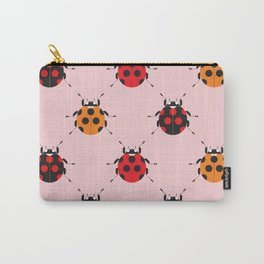 Ladybug Pink Carry-All Pouch