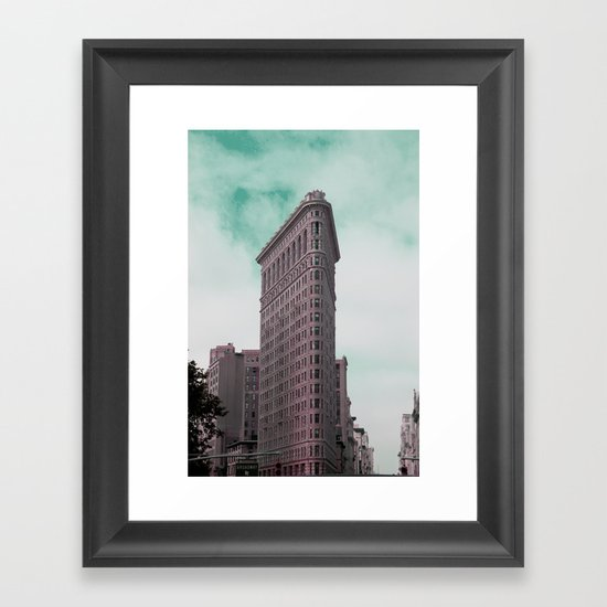 Broadway Corner New York City Framed Art Print