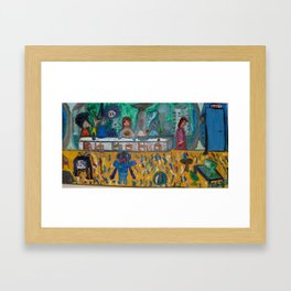 Modern last supper / Ultima Cena moderna Framed Art Print