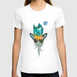 Surreal Paradise Floral Print T-shirt